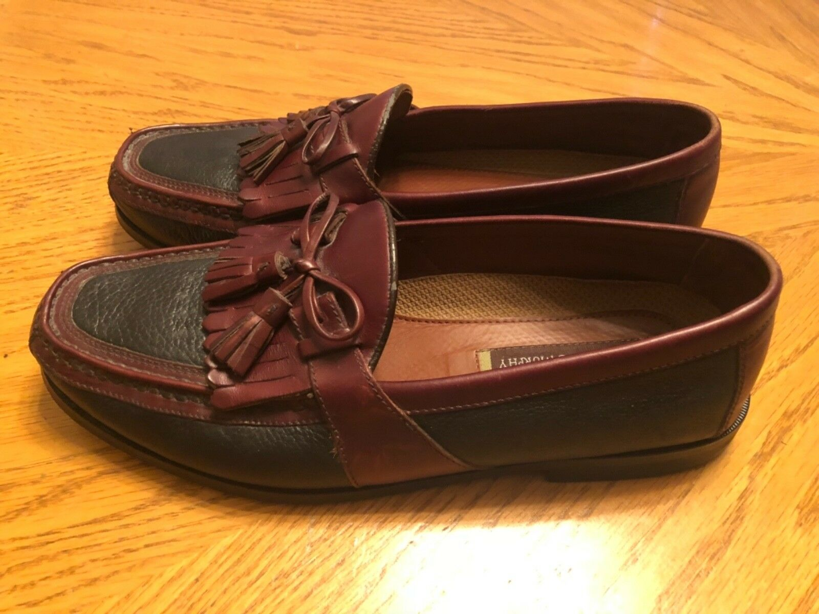Johnston & Murphy Tassel Loafers Brown & Black Size 10.5M