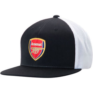 ARSENAL By PUMA FlexFit 110 Adjustable Hat BLACK Arsenal Cap The ... 85a2db56c68