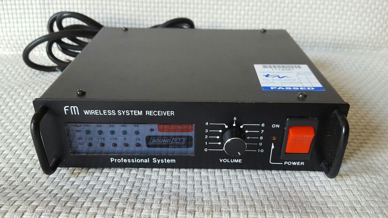 Sound Lab WMS-202 fm Wireless receiver 175.00MHz professional system  (B38)