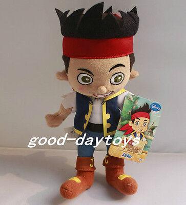 """NEW W/TAGS Plush Disney Jack&NeverLand Pirate JAKE~8"""" Stuffed Plush TOY"""