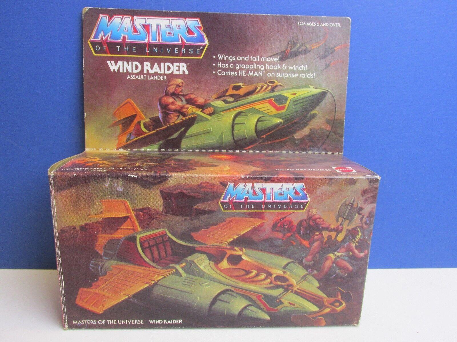 COMPLETO in scatola vintage LUI UOMO windraider veicolo MOTU Master of the Universe 28Q