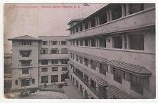 MANILA HOTEL Philippines FILIPINO PC Postcard ENTRANCE COURT Bay ASIA Asian
