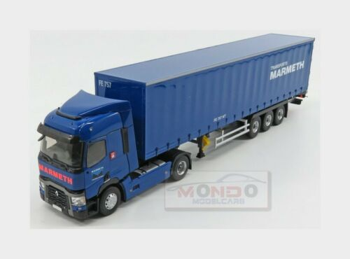 Renault T520 Truck Telonato Marmeth Transports 2016 Blue ELIGOR 1:43 ELI116624 M