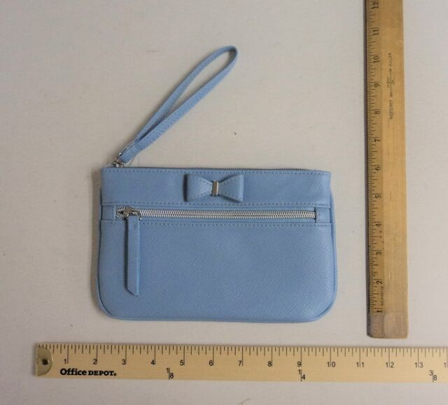 ea6f24761e78 Women's APT 9 Light Ice Blue Wristlet Wallet Purse Hand Bag Cute Bow Detail  | eBay