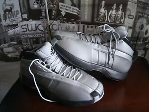 006657bb32a RARE🔥 Adidas Crazy 1 2006 Metallic Silver Black Sz 12 Men s ...