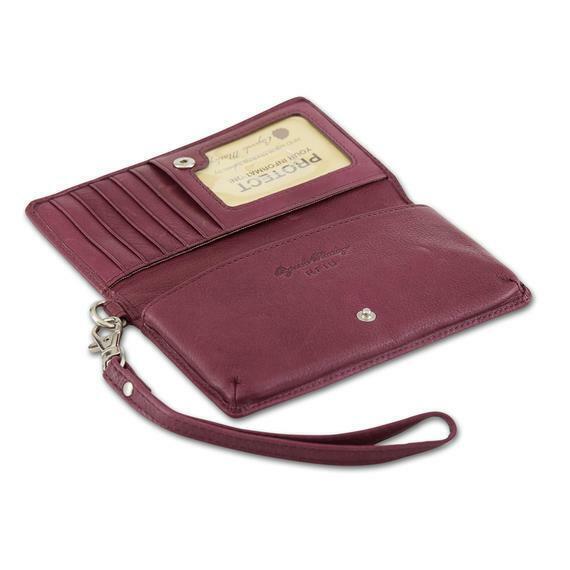 Osgoode Marley RFID Blocking Wallet Phone Wristlet 1256