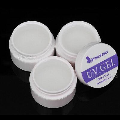 3Pcs Clear Transparent Nail Art UV Builder Gel Tips Gel Nail Extension Manicure