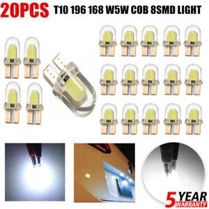 LED-20x-T10-194-168-W5W-COB-8SMD-Canbus-Bombillas-de-licencia-blanco-brillante-error