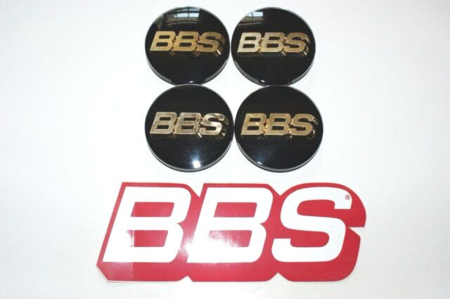 BBS RZ RS RM LM 70.6mm 3-D Gold Black 3-tab Wheel Center Cap Emblem *AUTHENTIC*