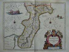 MAPPA CALABRIA ULTRA 1640 REGGIO CATANZARO PALMI POLISTENA SCILLA LOCRI MELITO