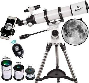 Gskyer Telescope 600x90mm AZ Astronomical Refractor Tripod Kit 3x Barlow Lens