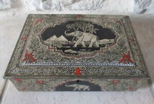 Ancienne-boite-metal-chocolat-cacao-Cote-D-039-Or-France-candy-vintage-vtg