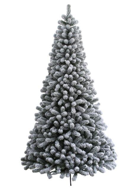 king of christmas 6 prince flock artificial christmas tree unlit
