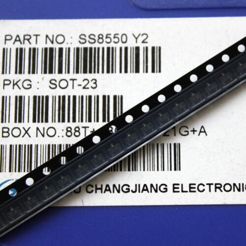 50PCS SS8550 SOT-23 TRANS PNP 25V 1.5A NEW