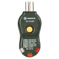 Greenlee Gt 10gfi 120 Vac Etl Gfci Circuit Tester With Light Sequence Indicator