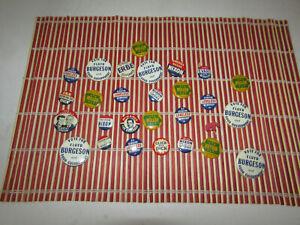 Vintage-Lot-von-28-politischen-Praesident-Kampagne-Button-Pins-Nixon-Kennedy-Iowa