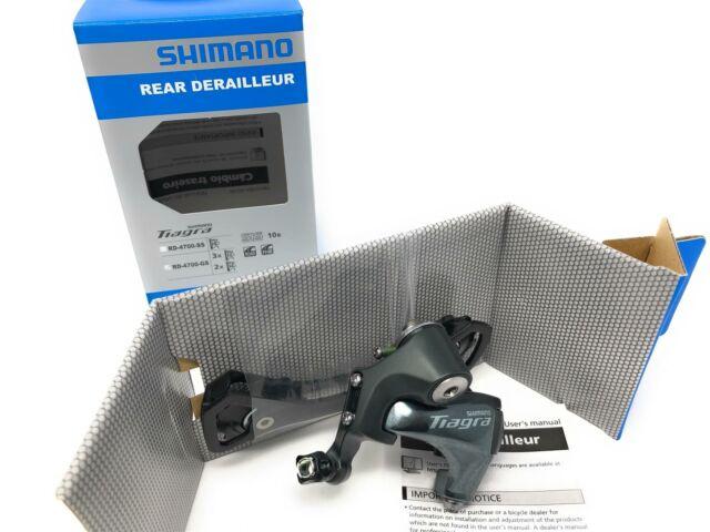 10 Speed Medium Cage Silver Shimano Tiagra RD-4700-GS Rear Derailleur