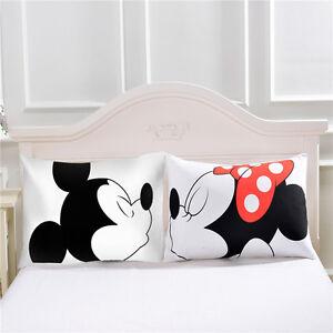 Mickey mouse Love Decorative Pillow CaseCotton Standard Pillowcase Home