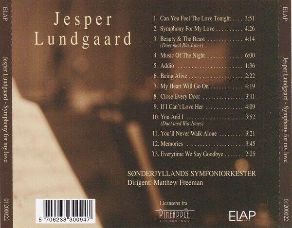 Jesper Lundgaard: CD : Symphony for my love, pop