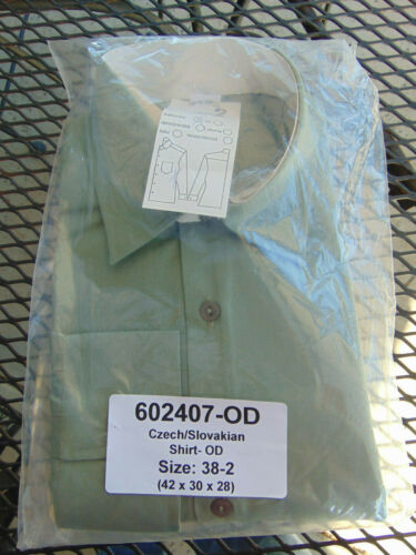 Size L Czech military M-21 Field dress shirt pale olive O.D. New in package