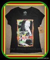 Bob Marley Juniors Xl Short Sleeve T-shirt Top Satisfy My Soul Rasta