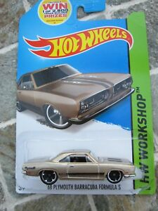 Candide Hot Wheels'68 Plymouth Barracuda Formula S Long Card 2014-afficher Le Titre D'origine Un Style Actuel