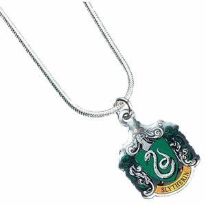 Harry-Potter-Hogwarts-Slytherin-House-Crest-Necklace-Pendant-Silver-Plated