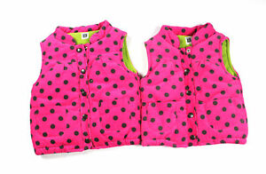 8ffb2a341fa5 Little Girl s Carter s Thick Fleece Vests 2T   3T Pink W Green ...