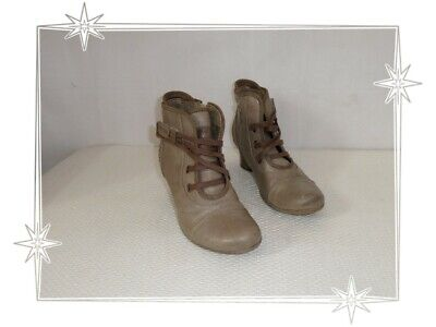 K Bottines Fantaisies Taupe Rivets Mustang Pointure 38 | eBay