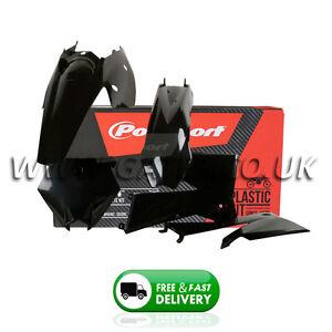 KTM EXC 125/200/250/300/400/450/525 2005-2007 Black Polisport Plastics Kit