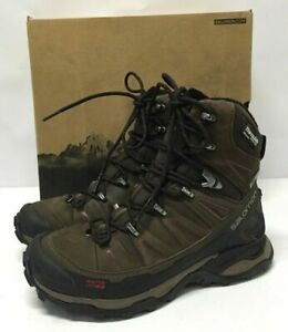 Ultra Cs W X Boots Winter Shoe Salomon Waterproof Brown Women's Snow cRS435jqAL