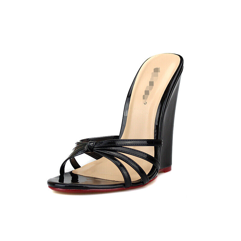 Fashion Hollow Out Out Out  donna Slippers Sandals Leather Wedges Slingback Casual scarpe e36864