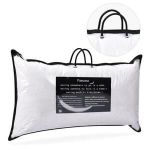 2-x-Down-Bed-Pillow-Feather-Goose-Soft-Pillows-Cotton-18-034-X26-034-Queen-Size-US