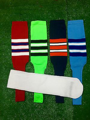 Baseball Stirrups Socks Black Navy Red Royal with Stripes with Sanitary Sock