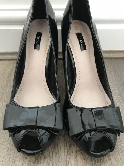 NEXT Black Patent Shoes Size 5 for sale