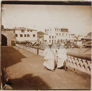Port-Algeri-Femmes-Voillees-Algeria-Foto-Placca-Da-Lente-Stereo-Vintage-Ca-190