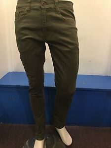 M-SOCIETY-OLIVE-SKINNY-FIT-SOLID-JEANS