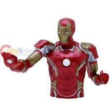 """Marvel Avengers 2 Iron Man Bust Figure Coin Bank  8"""" Figuren Piggy Bank"""