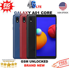 """Samsung Galaxy A01 Core - 16GB (GSM UNLOCKED) 5.3"""" 4G LTE T-Mobile AT&T MetroPcs"""