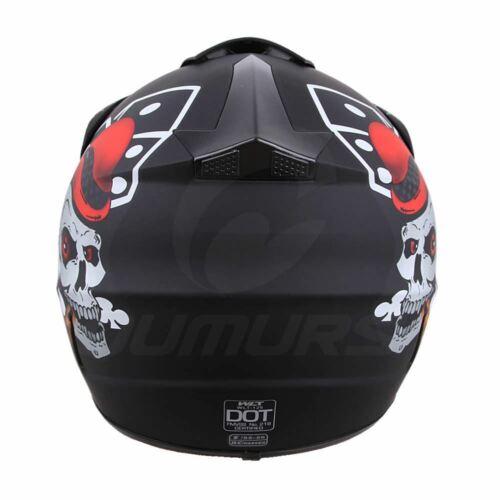 Adult Full Face ATV Motocross Dirt Bike Motorcycle Racing Off-Road Helmet S-XL
