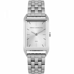 French-Connection-Womens-Ladies-Wrist-Watch-Silver-Face-FC1296SM