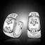 Women 925 Silver Plated Crystal Plum Blossom Ear Stud Earrings Fashion Jewelry