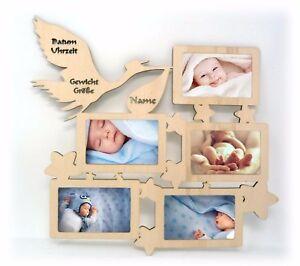 Baby Geschenk Name Bilderrahmen Geschenke Zur Geburt Taufe Datum