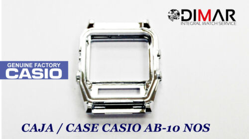 VINTAGE CASE//CAJA  CASIO AB-10 CROMADA NOS SIN CRISTAL NI BOTONES