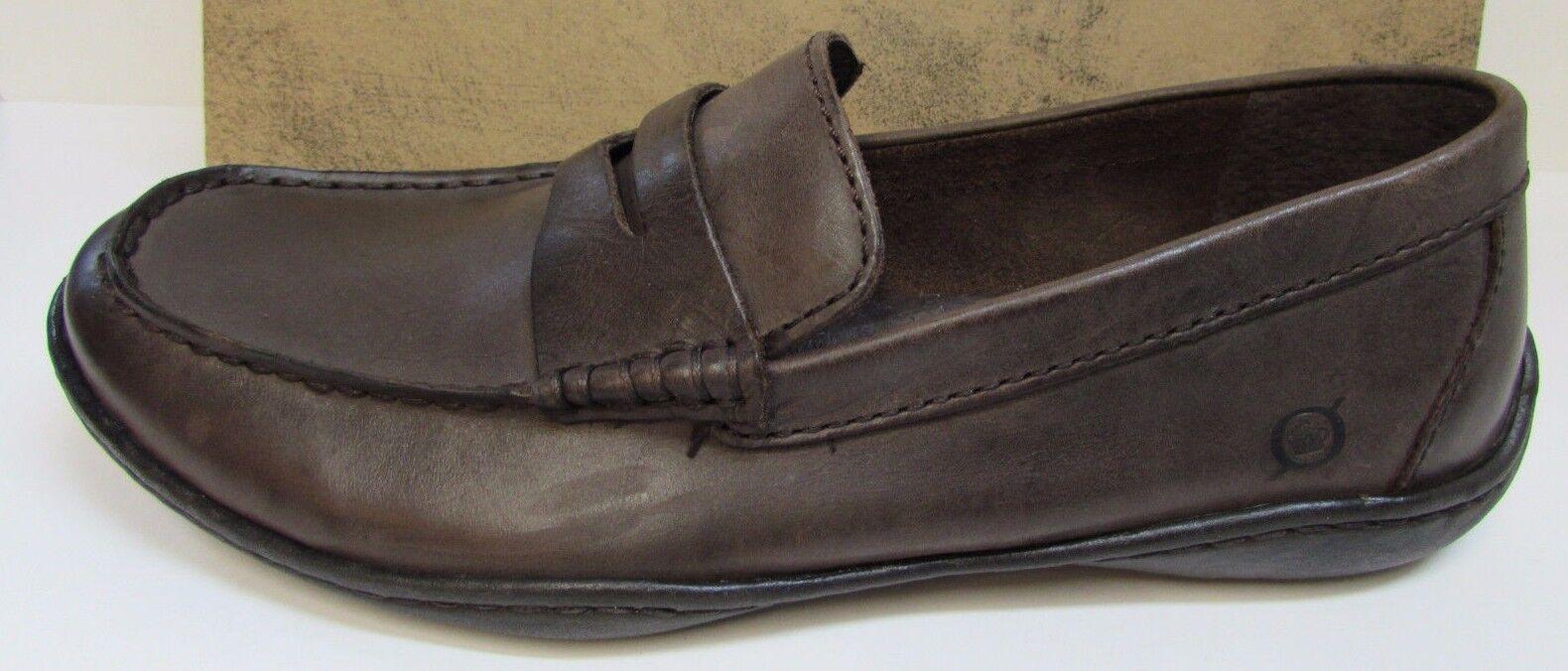 Born Taglia 8  marrone Pelle Loafers New Uomo Scarpe