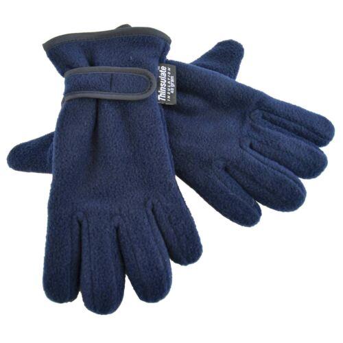 Thinsulate Soft Fleece Winter Gloves Boys//Girls//Childrens  40 Gram Kids 4-8