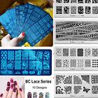 10PCS Stamping Manicure Image Nail Art Image Stamp Template Tool Plate Polish
