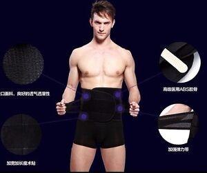 UK Mens Tummy Tucker Trimmer Wrap Belly Buster Band Waist Shaper Cincher Belt