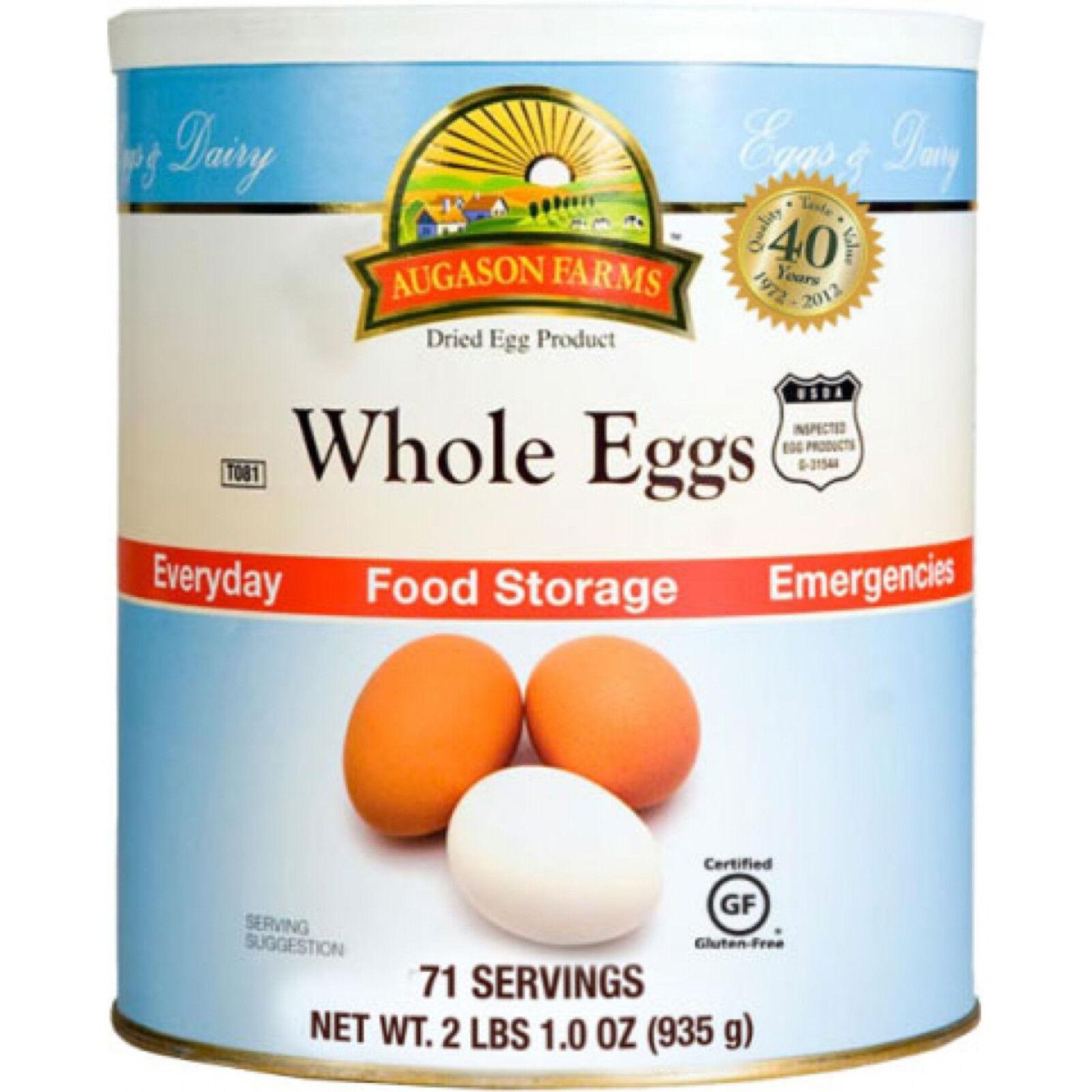 AUGASON FARMS DRIED WHOLE EGGS FOOD STORAGE LONG SURVIVAL POWDERED EMERCENCY RV