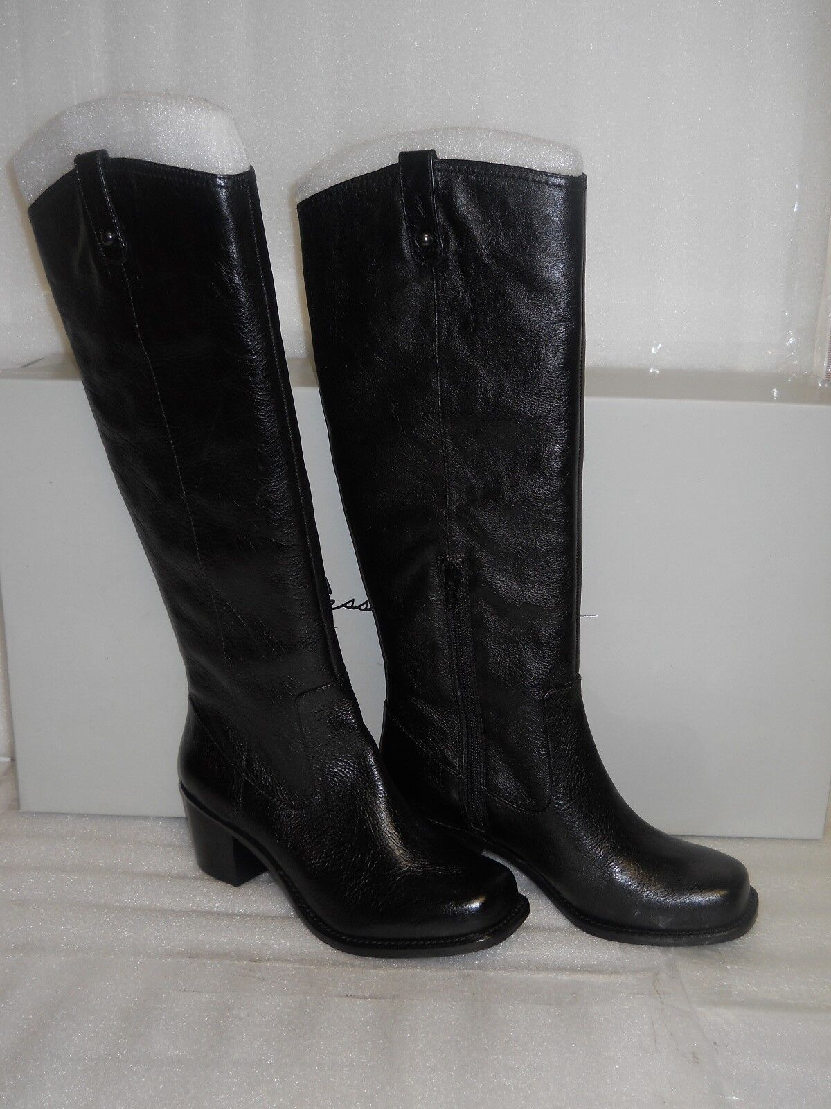 Jessica Simpson New Womens Chad Black Leather Boots 6 M shoes